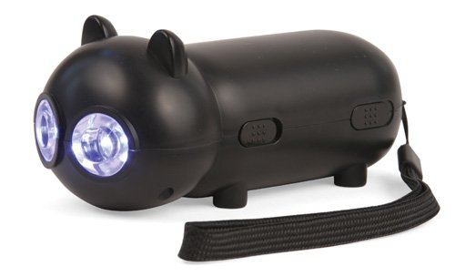 Kikkerland FL08 Rechargeable Black Cat Flashlight