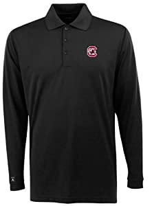 South Carolina Long Sleeve Polo Shirt (Team Color) by Antigua