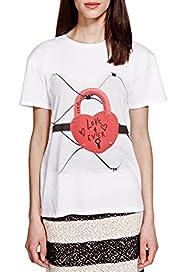 Padlock Print T-Shirt with Modal [T69-9089J-S]