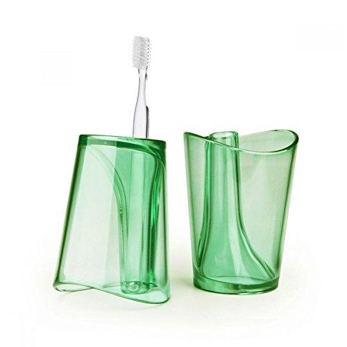 Universal Gargling Cup w/ Toothbrush Holder [Green]