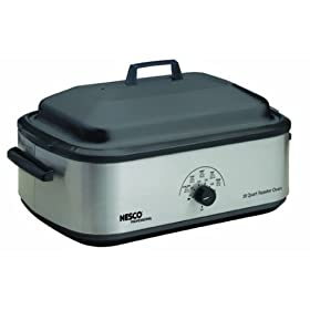 Nesco American Harvest 4808-25-30PR Non-Stick 18-Quart Roaster Oven