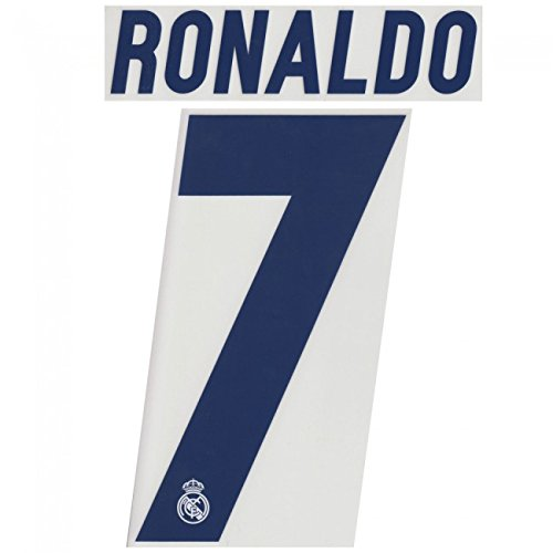 RONALDO #7 Real Madrid Home 2016-2017 Soccer Jersey Football Shirt Print Name Number Set Adults Transfer (Cristiano Ronaldo Print Number compare prices)
