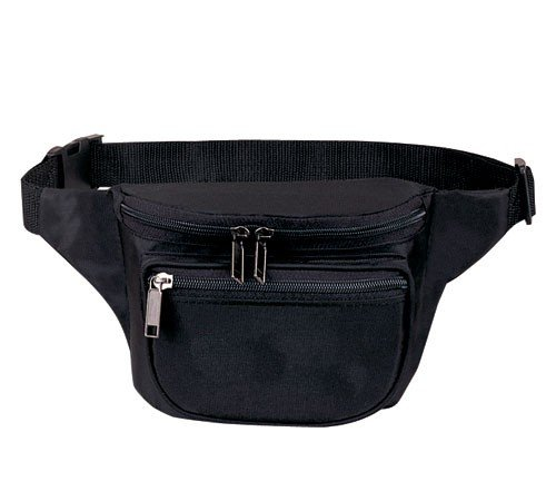Yens® Yens® Fantasybag 3-Zipper Fanny Pack- Black, FN-03