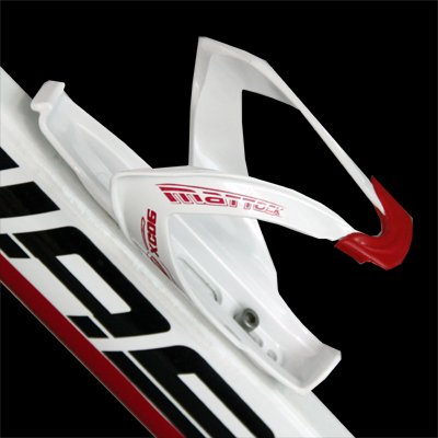 Bicycle Water Bottle Cage / Holder / Rack - White & Red