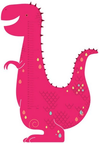 Wall Hugs Dinosaur Child Growth Chart Wall Decal