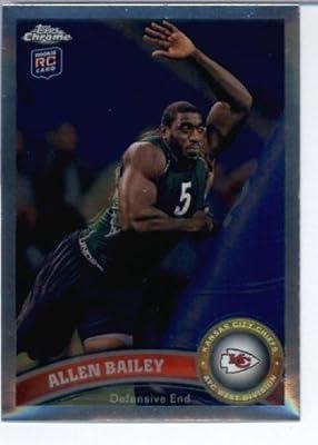 2011 Topps Chrome Football Card #TC144 Allen Bailey RC - Kansas City Chiefs (RC - Rookie Card) NFL Trading Card