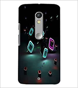 PrintDhaba Colour Sqaures D-2027 Back Case Cover for MOTOROLA MOTO X PLAY (Multi-Coloured)