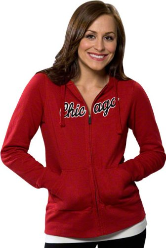 Chicago Bulls Women's Red Signature Full-Zip Hooded Jacket at Amazon.com