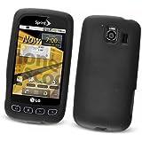LG Optimus S LS670 (Sprint) Silicone Skin Case, Black