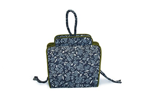 Lantern Moon Tootsie Small Project Bag-Blue Floral by Lantern Moon