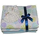 Beautiful Soft Baby Swaddles, Receiving Blankets, 47 X 47 Inch, 100% Pure Cotton, With Bonus Mitts.
