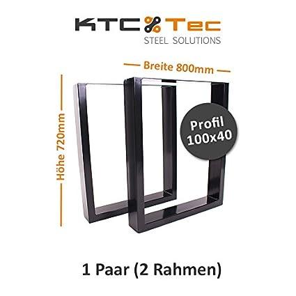 Tavolo con struttura in acciaio tu100s 800mm larghezza base tavolo kufe pattini struttura