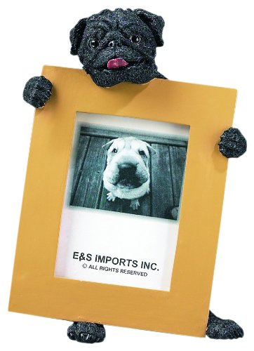 Pug Black 2.5'' x 3.5'' Photo Frame