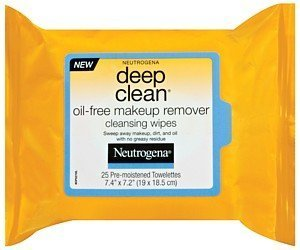 Deep Clean Oil-Free Makeup Remover Cleansing Wipes Neutrogena Wipes 25 Count Unisex by J&J HEALTHCARE.