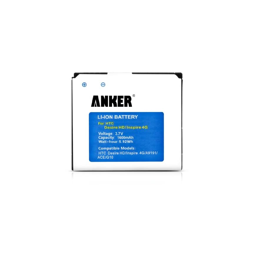 Anker 1600mAh Li-ion Battery for HTC Desire HD(G10), Surround 7, T8788, Inspire 4G, ACE [18-Month Warranty]- free S/H