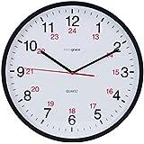 Kiera Grace Synchro Silent Wall Clock, Non-Ticking, 12-Inch, Black