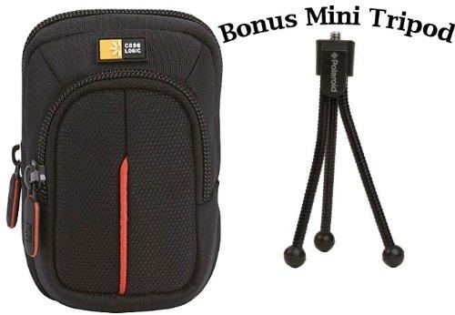 Case Logic DCB-302 Compact Camera Case and a Bonus Polaroid Mini Tripod