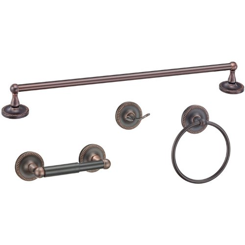 Designers Impressions Naples Series 4 Piece Oil Rubbed Bronze Bathroom Hardware Set