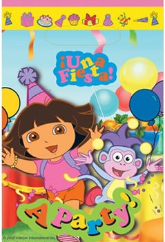 Dora The Explorer Party Bags (Pack Of 8)