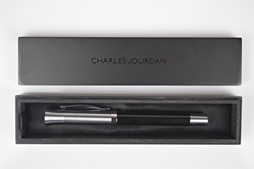 Charles Jour dan penna a sfera Design elegante in nero/Crome