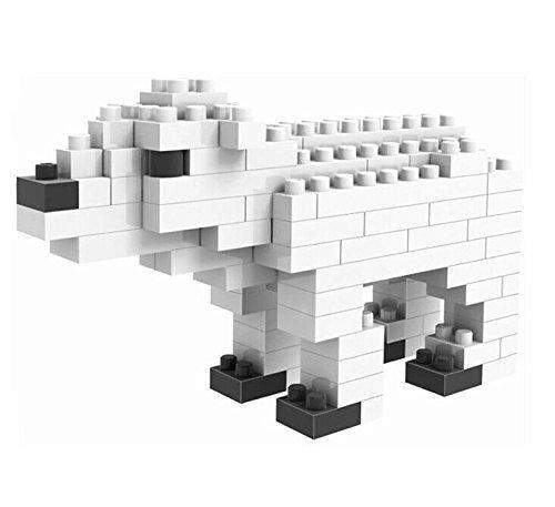 White Polar Ice Bear Ursus Maritimus LOZ Diamond Nano Mini Building Blocks Brick