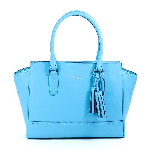 Coach Legacy Leather Medium Candace Carryall Bag 24201 Robin Blue by Coach