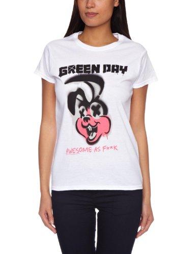 Bravado - Green Day Overspray, T-shirt da donna, bianco (weiß - weiß), L