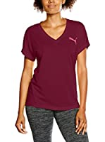 Puma Camiseta Manga Corta Elevated Sporty Tee W (Granate)