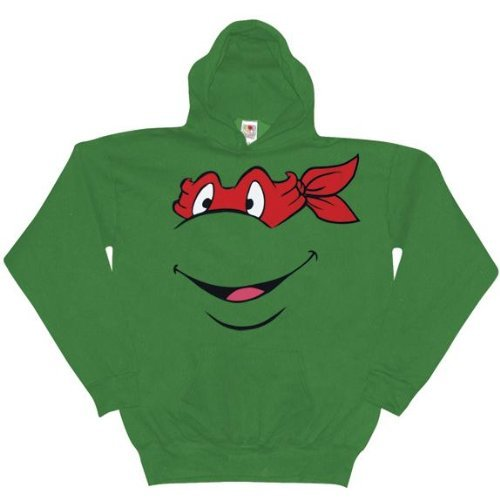 Old Glory Mens Teenage Mutant Ninja TurtlesRaphael Pullover Hoodie / Green - XX-Large Green