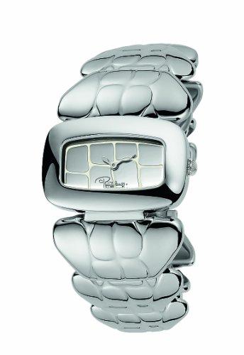 Roberto Cavalli 'Coco' 7253198015 - Reloj de caballero de cuarzo, correa de acero inoxidable color blanco
