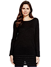 Per Una Sparkle Textured Knitted Tunic
