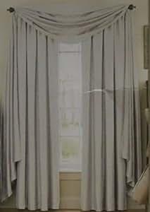 Room Darkening Noise Reducing Sound Asleep Astoria Silver Scarf Valance Curtain