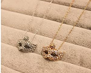 Fashion Necklaces Bohemian Catwoman Mask with Diamond Floret Collar Necklace Clavicle Chain from top-beauty