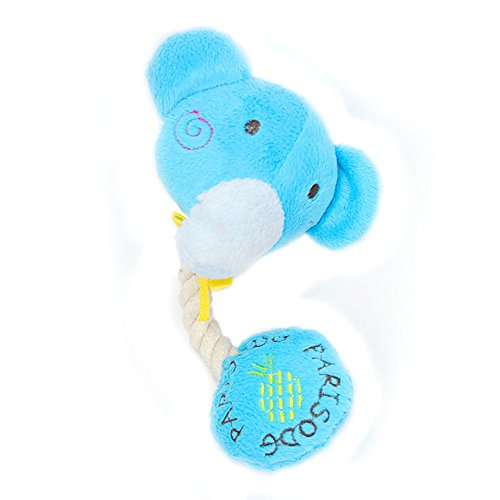 IKING Cat Chew Squeak Toys For Your Cat and Kitten -Plush Dog Toy Interactive-Elephant Shape