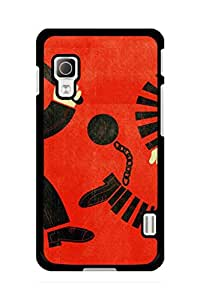 Caseque Crime Hindrance Back Shell Case Cover For LG L52