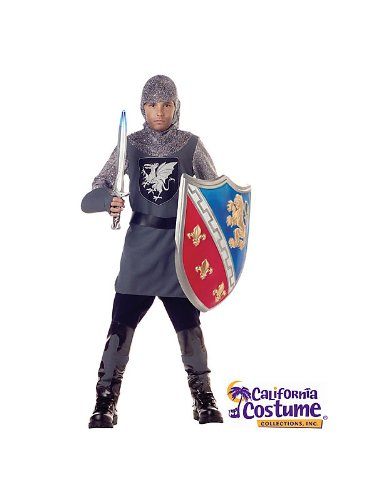 Child Valiant Knight Costume Bundle With Accessories ( SIZE S )