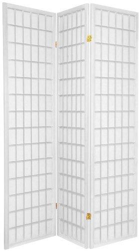 Legacy Decor 3-panels Shoji Screen Room Divider, White 71