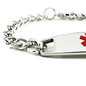 MyIDDr - Kids Medical ID Bracelet, Peanut Allergy Engraved, - Wrist Size 5in+ from My Identity Doctor
