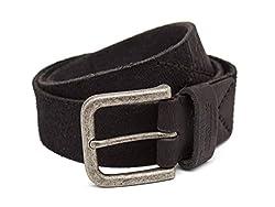 Breakbounce Men's Leather Belt (8907066079754_Small_Black)