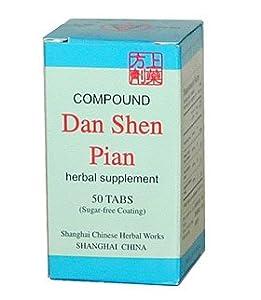 COMPOUND DANSHEN PIAN (FU FANG DAN SHEN PIAN) 50 tablets per box.