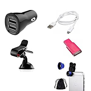 High Quality Mobile Accessories Combo of Car Charger (2 USB) + Mobile Camera ...