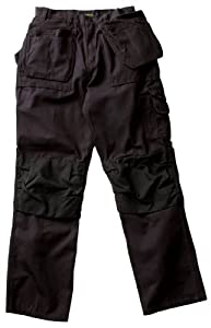 Blaklader Workwear Bantam Pant with Utility Pockets, 40-Inch Waist, 34-Inch Length, 8-Ounce Cotton - Black