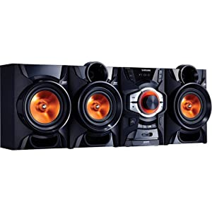 Samsung 2.1-Channel 260-Watt Boombox Stereo Shelf System with AM/FM Tuner, Bluetooth Wireless, USB Input, Plays MP3-CD, WMA, CD-R/CD-RW, Record from CD/Radio/Auxiliary Input, Remote Control by Samsung