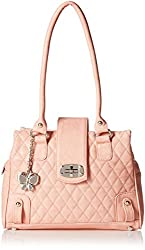 Butterflies Women's Handbag (Peach) (BNS 0564 PCH)