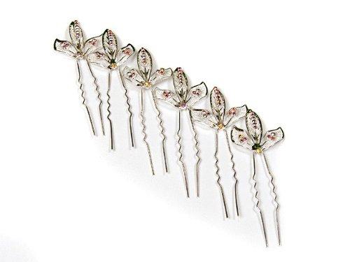 Silver Tone Diamante Hair Pins