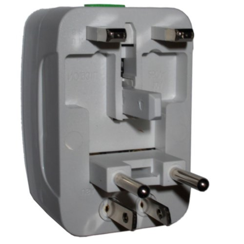 Hqrp Universal Ac Adaptor Converts Ch (China) To Usa Eur Uk Au (Europe British Australia) Outlet Travel Plug Adapter