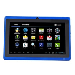 "Léliktec - Allwinner A13 - Tablette tactile - Disque dur 4GB HDD - Processeur 1.0 GHz - RAM 512MB - Wifi - Android 4.0.4 (Ice Cream Sandwich OS) - Ecran tactile 7"" - Bleu"