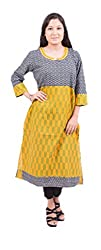 Krivi By Kk Women's Cotton Kurti (KRV-24-C_Multi-Coloured_L)