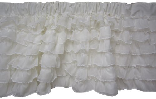 Baby Doll Layered Window Valance, Ivory