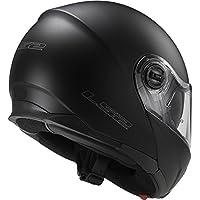 LS2 Helmets Strobe Solid Modular Motorcycle Helmet with Sunshield (Matte Black, Large) by LS2 Helmets